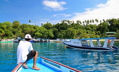 Tempat Wisata Taman Nasional Bunaken Manado Speedbat Perjalanan Laut Kota