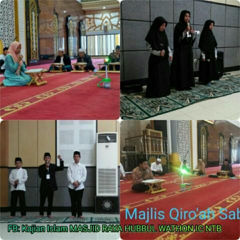 Lomba Gema Ramadhan 1439 Hari Pertama Masjid Raya Hubbul Wathan