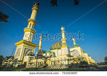 Mataram West Nusa Tenggara Great Mosque Stock Photo Royalty Free
