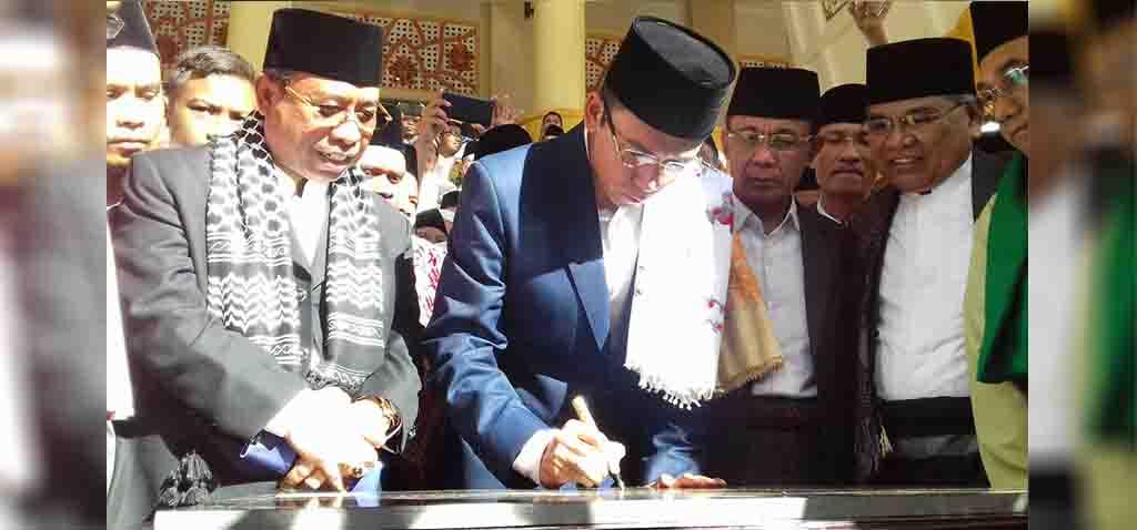 Penjelasan Gubernur Soal Nama Masjid Raya Hubbul Wathan Islamic Center