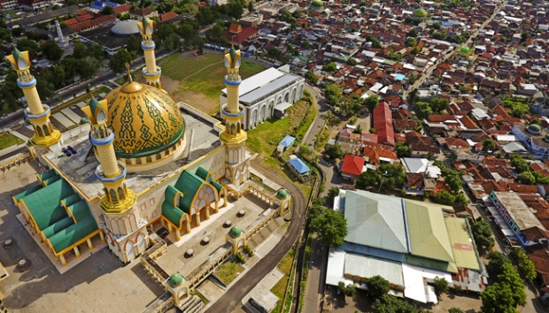 Wisata Religi Islamic Center Ntb Travel Tempo Foto Udara Kawasan