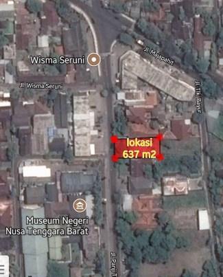 Dijual Tanah Jl Panjitilar Negara Kota Mataram Lombok Museum Nusa