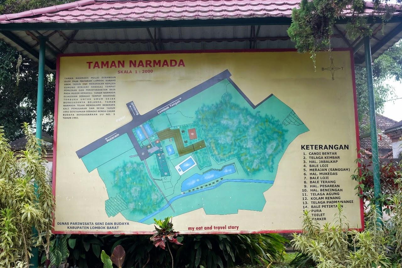 Eat Travel Story Menenangkan Hati Taman Narmada Lombok Terletak Desa
