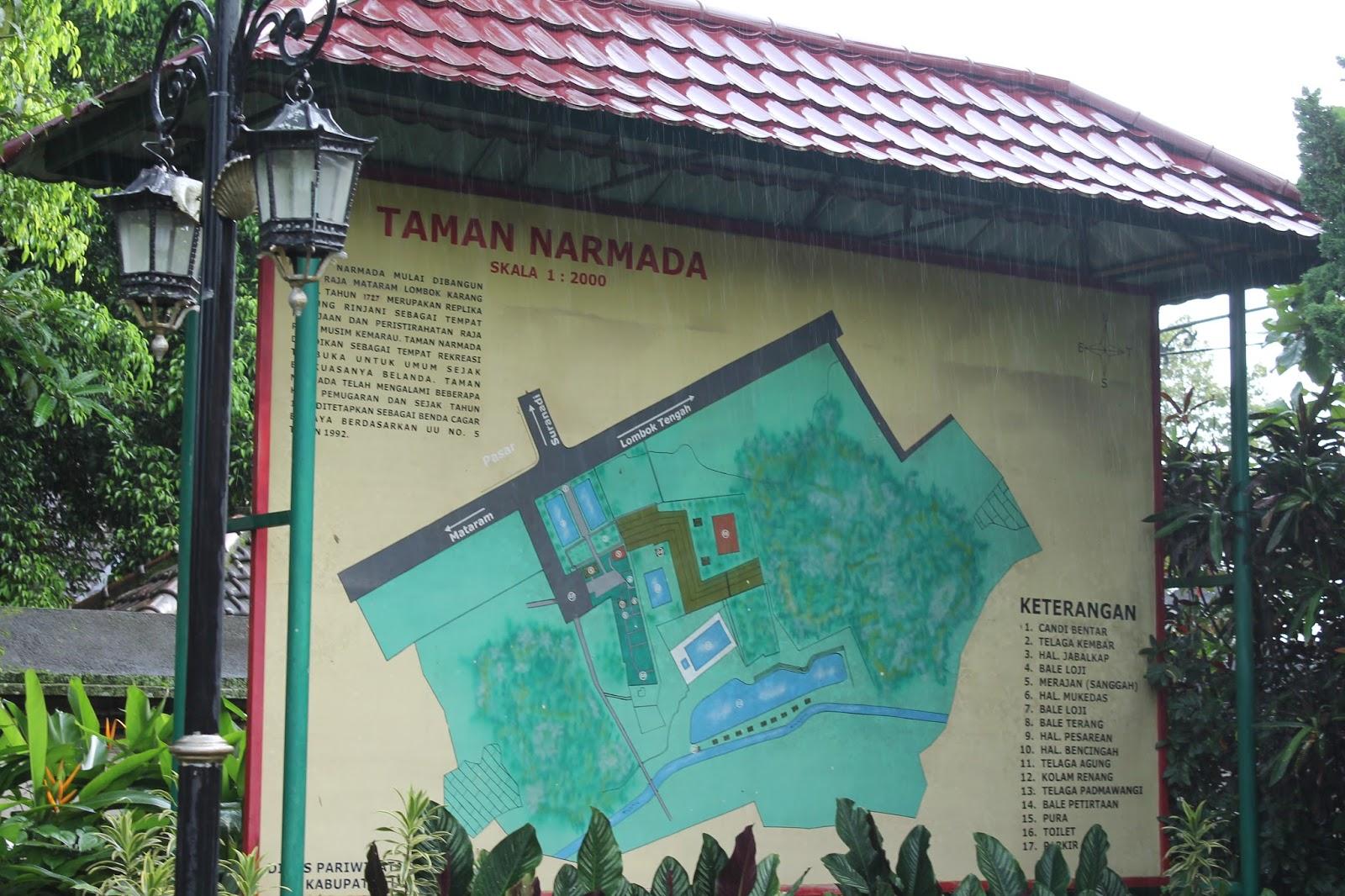 Sebuah Nama Cerita Sejarah Singkat Taman Narmada Lombok Pura Agung