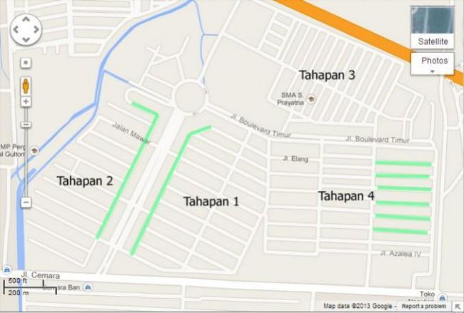 Komplek Perumahan Cemara Asri Medan Dijual Informasi Peta Kota
