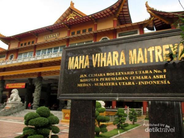 Medan Punya 2 Vihara Keren Dikunjungi Liburan Imlek Terletak Kompleks