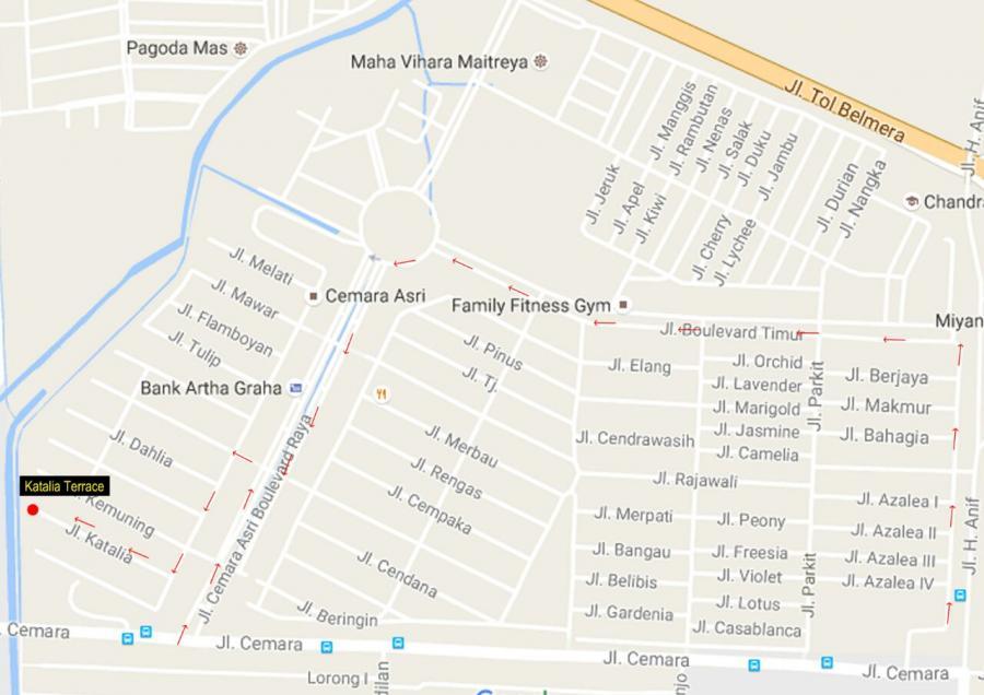 Rumah Dijual Cemara Asri Katalia Terrace Jln Medan Kota