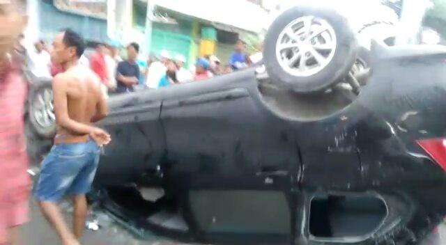 Kecelakaan Mobil Avanza Berwarna Hitam Pagi 09 04 2017 Pulo