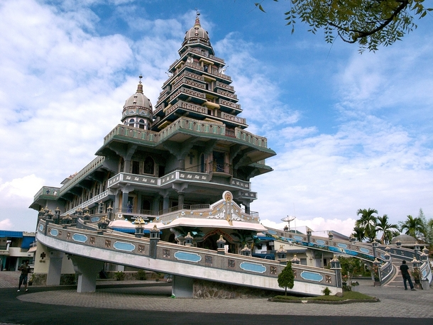 Graha Maria Annai Velangkanni Medan Indonesia Church Built Priest Indian