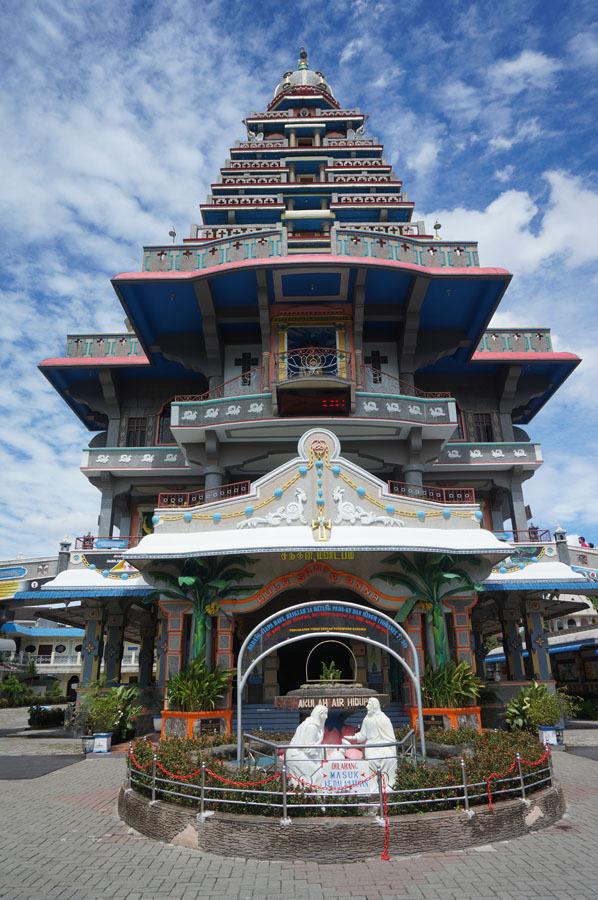 Mengunjungi Gereja Unik Graha Santa Maria Annai Velangkanni Kota Medan