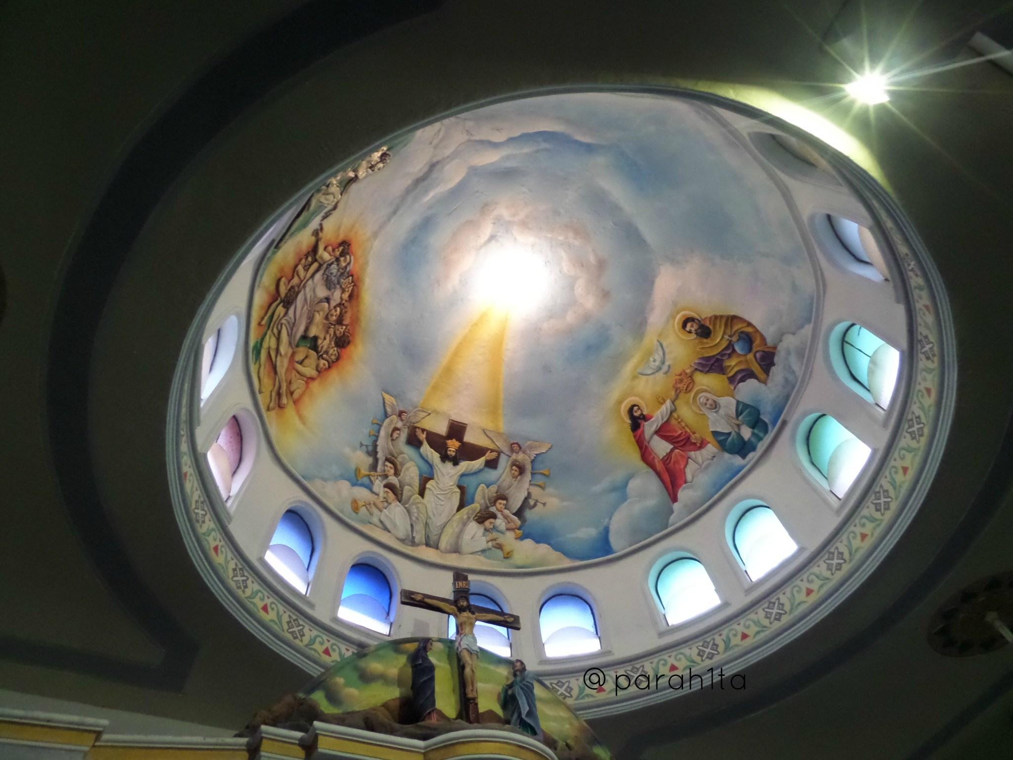 Pagi Syahdu Gereja Graha Maria Annai Velangkanni Parah1ta Kubah Atas