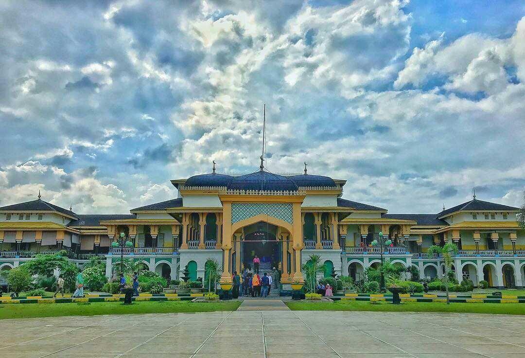 Istana Maimun Kota Medan Steemit Kesultanan Deli Salah Satu Ikon