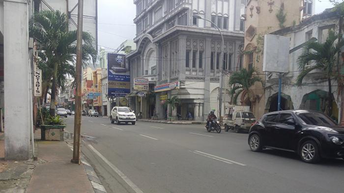 Jalan Kota Medan Lengang Libur Natal 2015 Tribunnews Kesawan Square