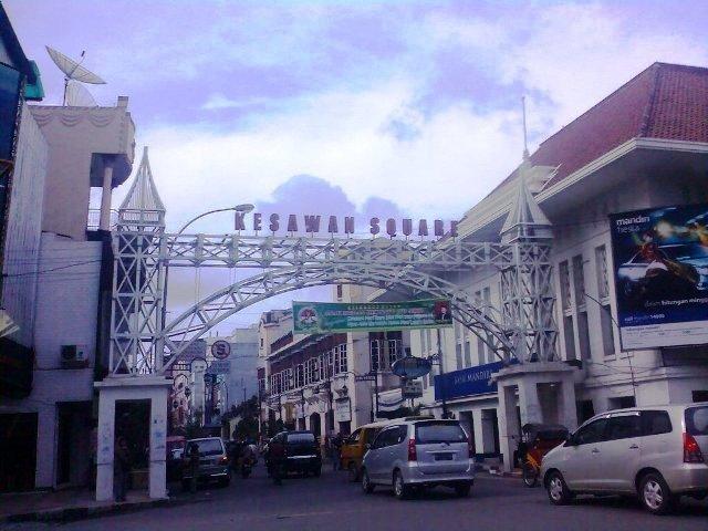 Kesawan Square Nighttime Hawker Center Medan Kota