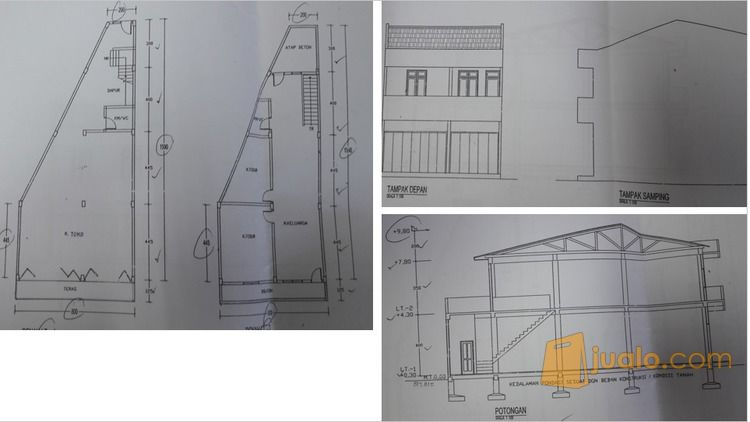 Rumah 2 Lantai Ahmad Yani Kesawan Kota Medan Jualo Square