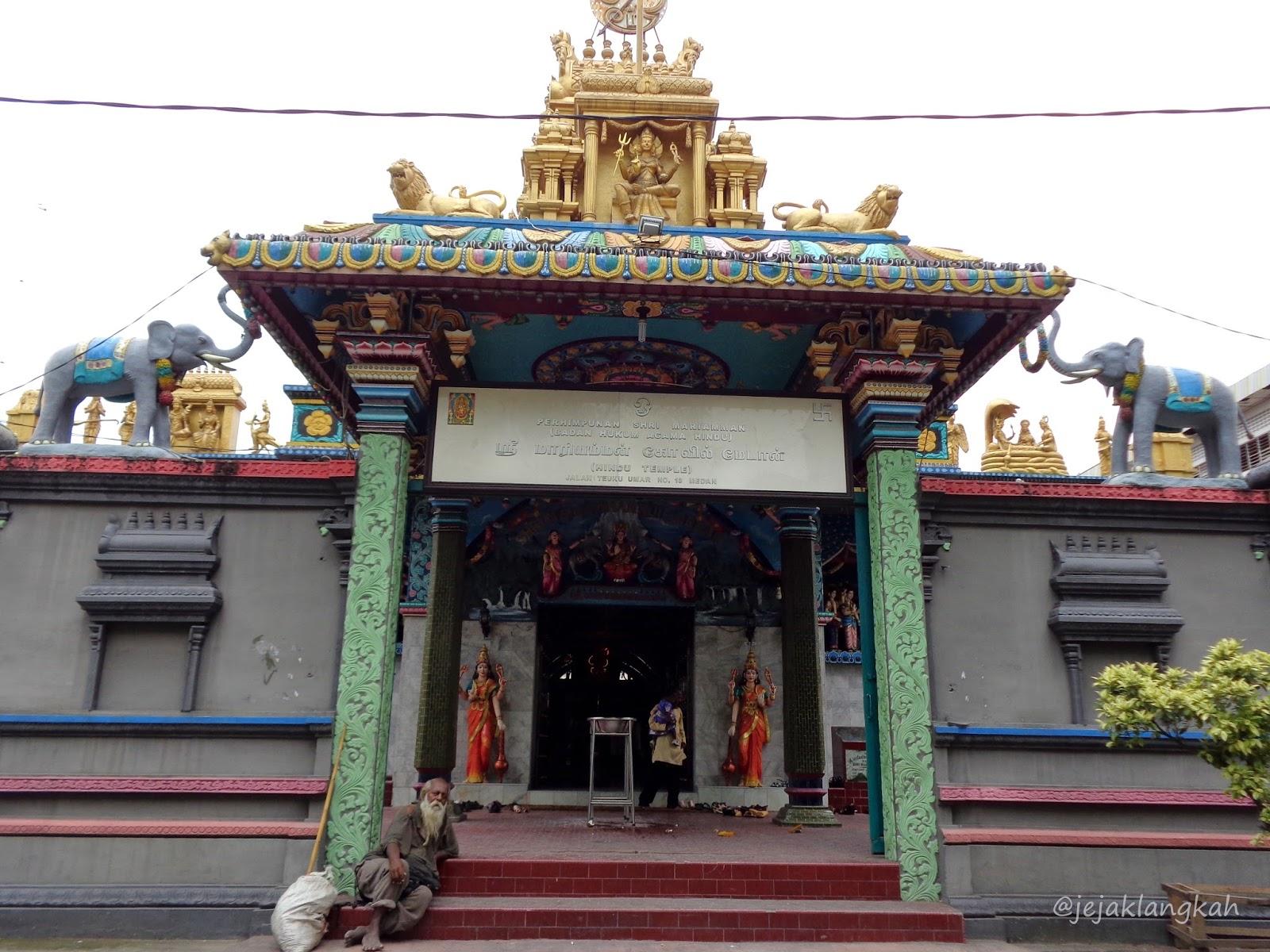 Ikatan Suci Kuil Shri Mariamman Bludstory Kota Medan