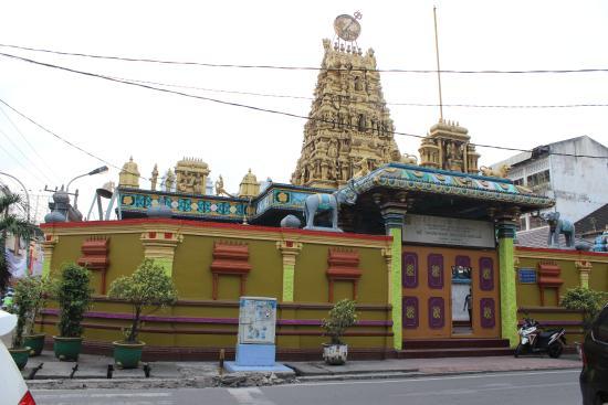 Tampak Luar Bangunan Picture Shri Mariamman Temple Medan Kuil Kota