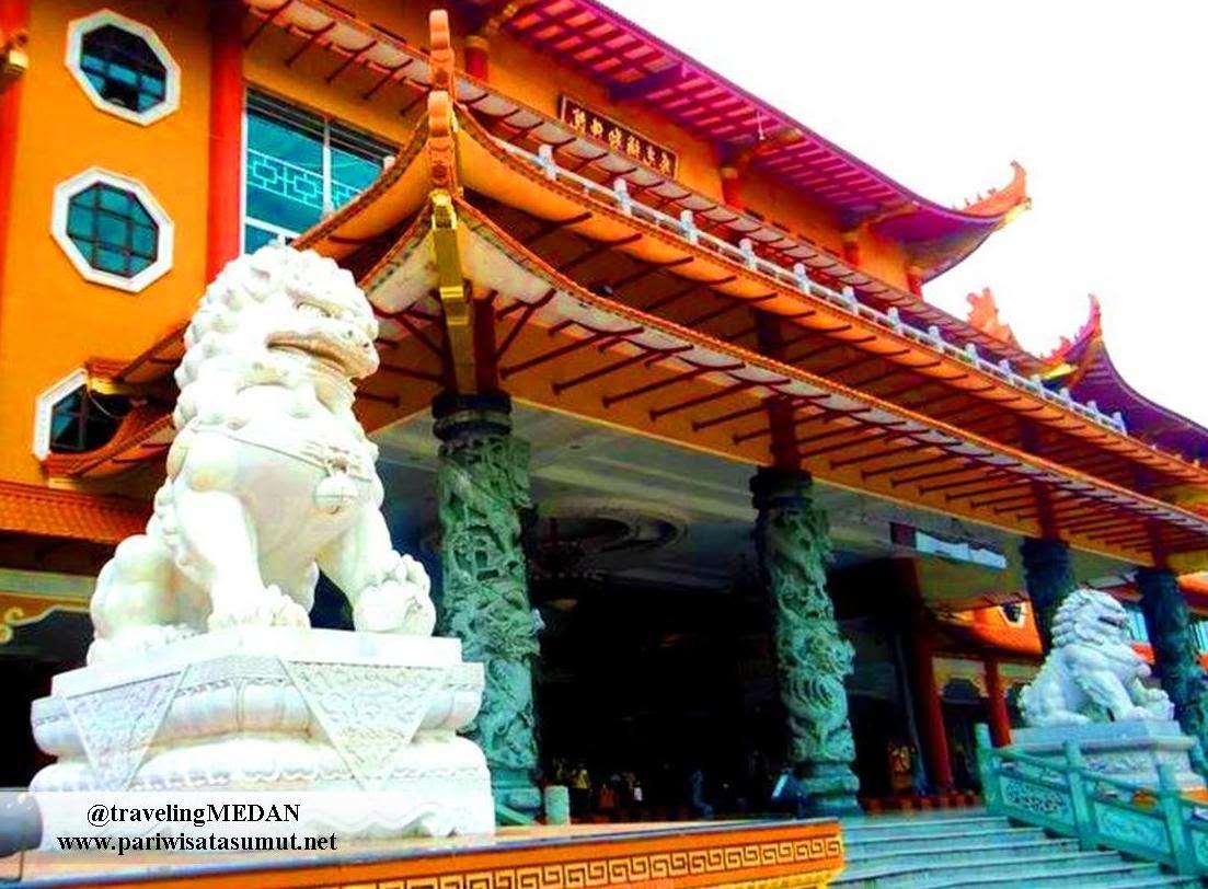Maha Vihara Maitreya Medan Terbesar Indonesia Pariwisata Sumut Bangunan Kota