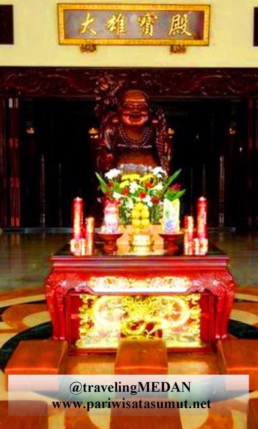Maha Vihara Maitreya Medan Terbesar Indonesia Pariwisata Sumut Mampu Menampung