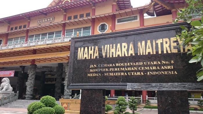 Maha Vihara Maitreya Objek Wisata Religi Medan Tribun Kota