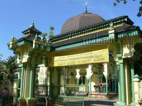 Masjid Al Osmani Melayu Online Ketika Dihiasi Lampu Kandil Buatan