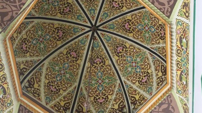 Masjid Al Osmani Tertua Kota Medan Ornamen Ukirannya Indahnya Kubah