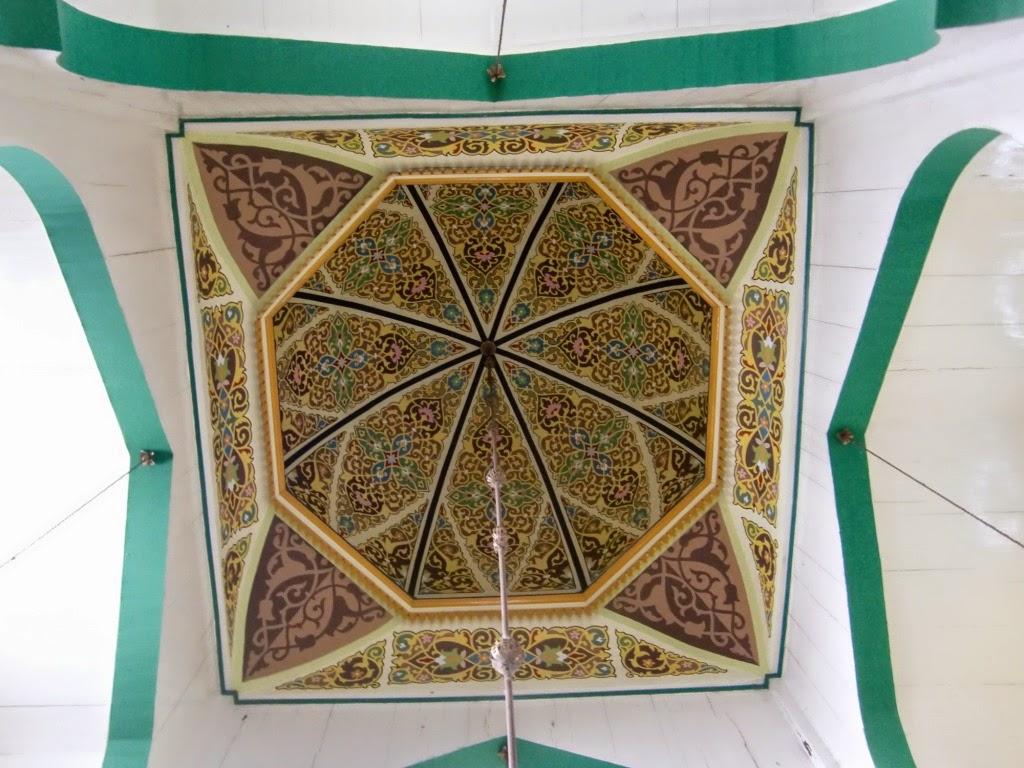 Masjid Raya Al Osmani Medan Labuhan Sumatera Utara Ornamen Bagian