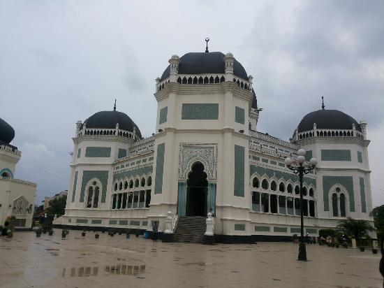 Masjid Raya Al Osmani Picture Medan Grand Mosque Kota