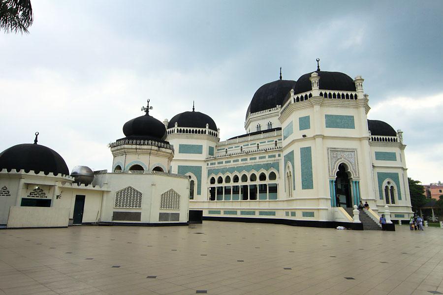 Rindu Masjid Raya Al Mashun Medan Sumatera Utara Komplek Bangunan