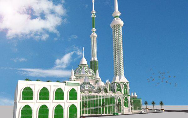 Direnovasi Dikabarkan Mesjid Agung Medan Jadi Termegah Menara Masjid Raya