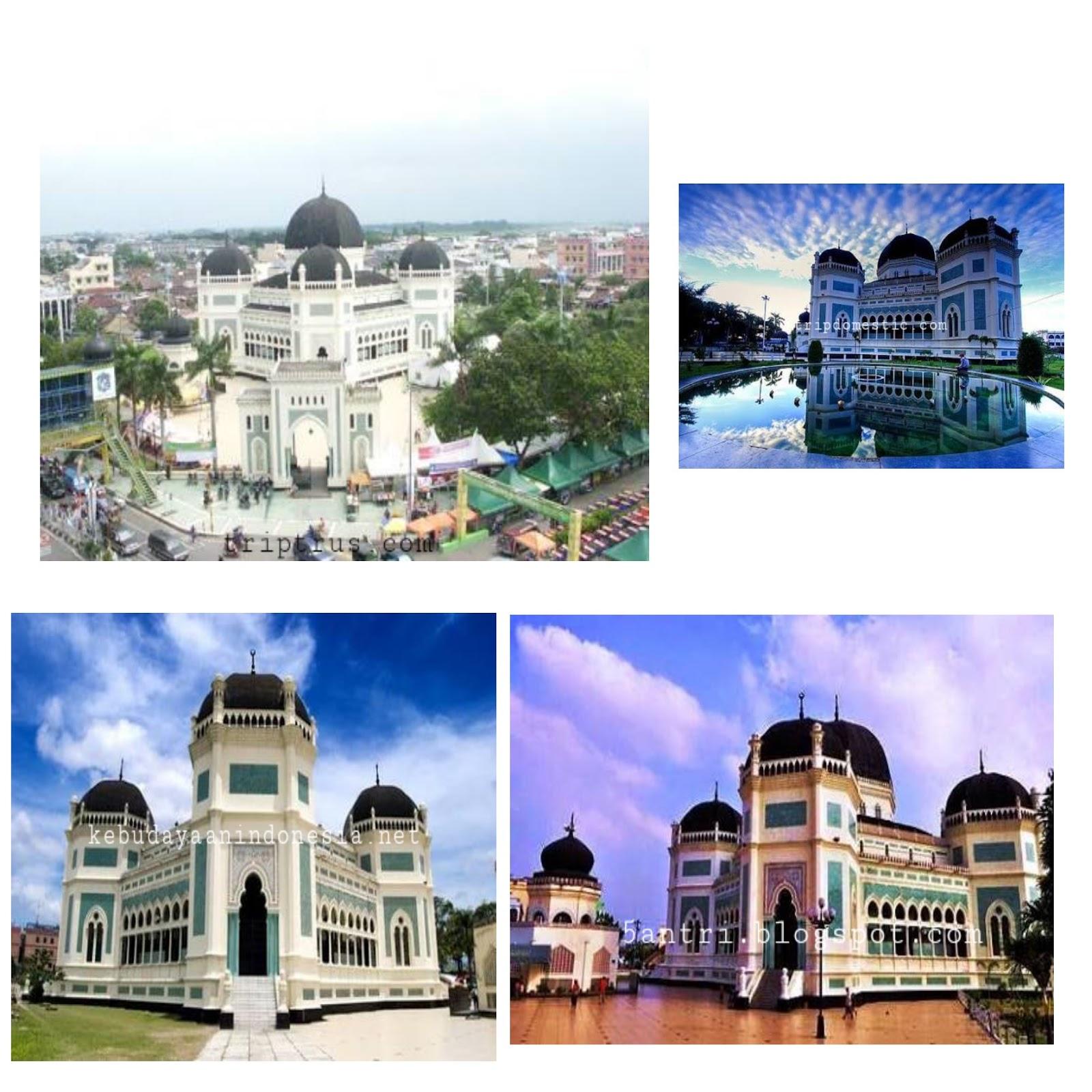 Jelajah Indonesia Masjid Raya Medan Keuinikannya Terbesar Termegah Kota Disebut