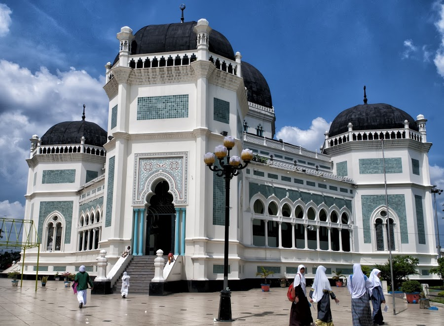 Kota Medan Sumatra Utara Indonesia Dunia Wisata Masjid Raya