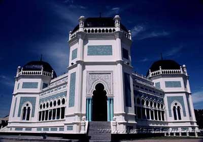 Masjid Raya Al Mashun Medan Indonesia Azi Achmad Foto Indah
