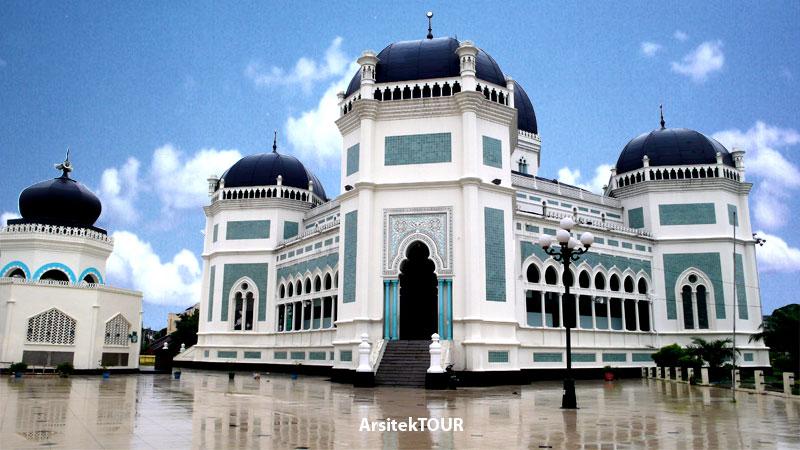 Masjid Raya Al Mashun Medan Mengenal Bangunan Peninggalan Sultan Almashun