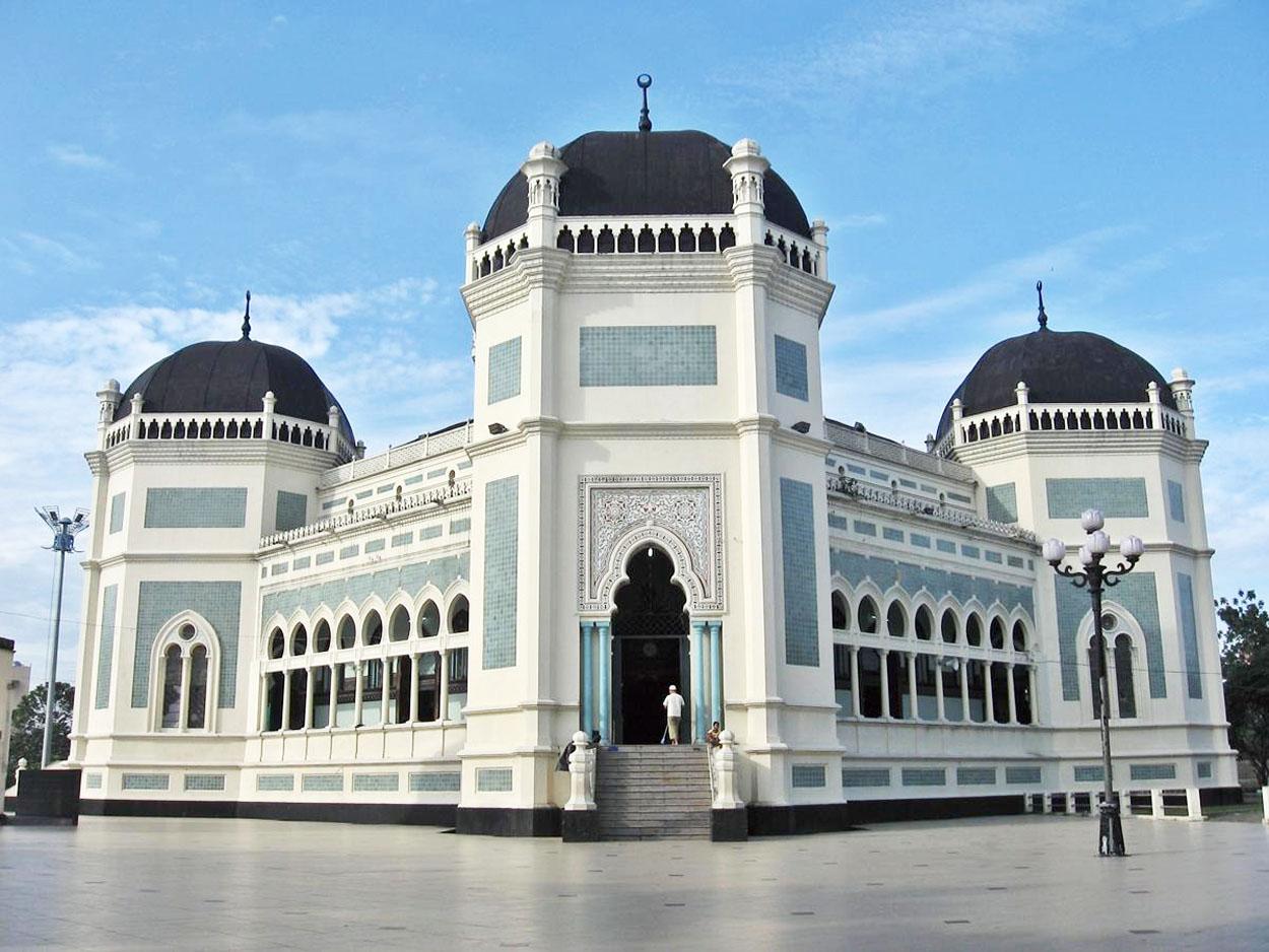 Masjid Raya Medan Tempat Wisata Religi Sumatera Utara Kota