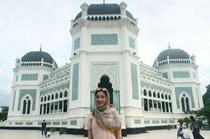 Masjid Raya Medan Visit Sumatra Utara Pinterest Great Mosque Al