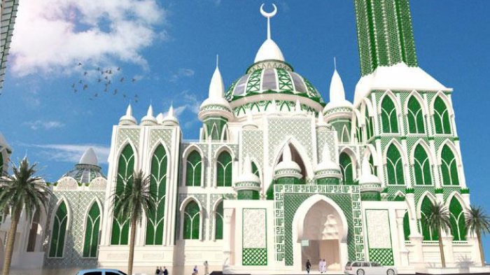 Masya Allah Indahnya Bangunan Masjid Agung Menara Tertinggi Ketiga Dunia
