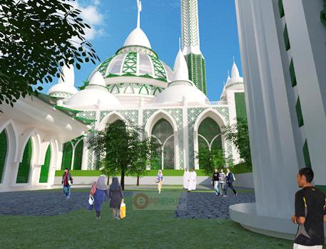 Medan Masjid Agung 2 Menara 199 Meter Gedung Parkir 12