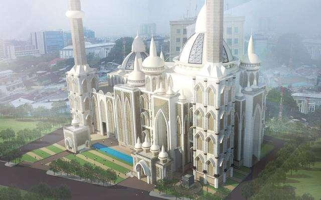 Pembangunan Masjid Agung Medan Dimulai Kabar Hari Termegah Menara Tertinggi