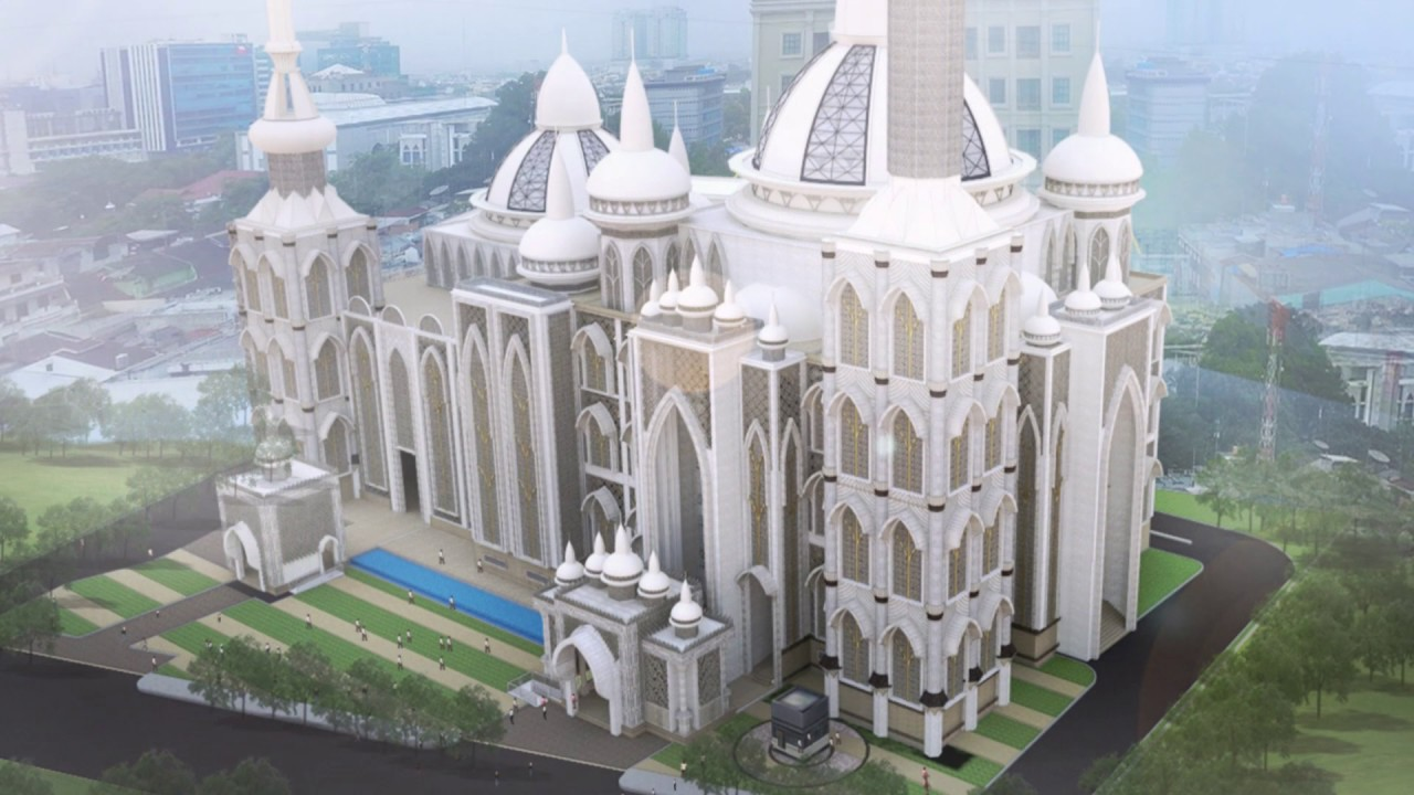 Pembangunan Masjid Agung Medan Youtube Raya Kota