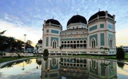Tempat Bersejarah Indonesia Masjid Raya Medan Favorite Places Kota