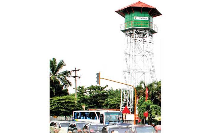 Berita Ditopang 10 Pilar Menara Air Ptpn2 Orisinal Harian Tirtanadi