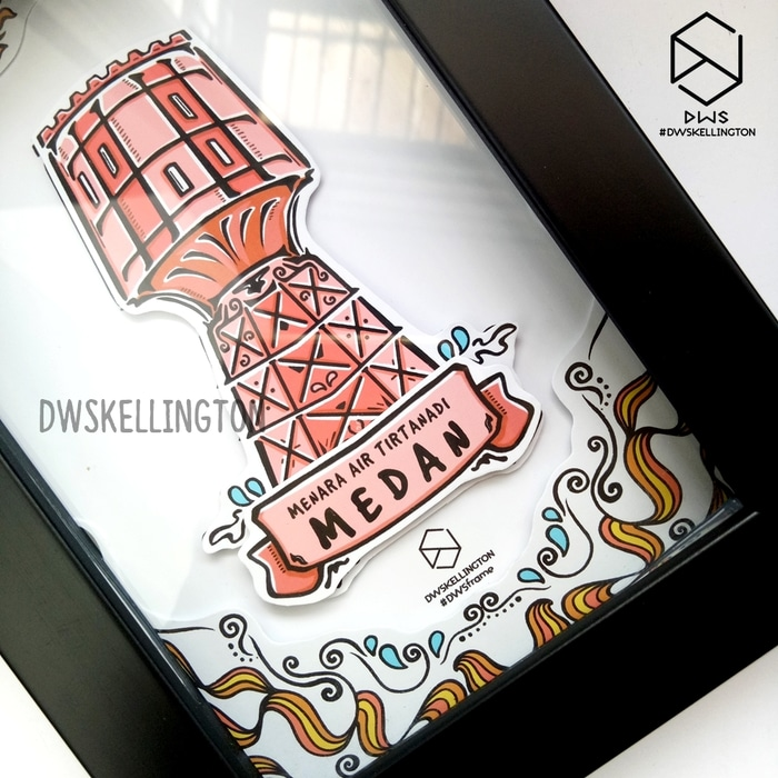 Jual Souvenir Medan Pigura Pop Frame Menara Tirtanadi Kota Air
