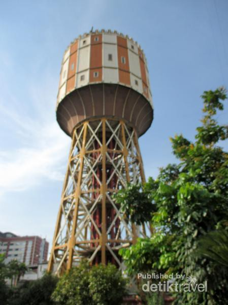 Penampakan Menara Air Tertua Kota Medan Dibangun Oleh Perusahaan Milik