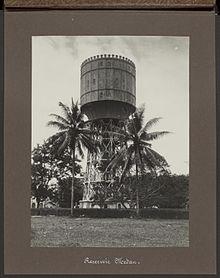 Tirtanadi Water Tower Wikipedia 1929 Menara Air Kota Medan