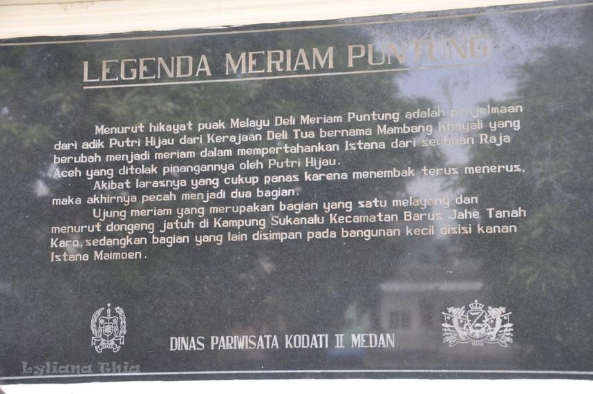 Wisata Istana Maimun Prasasti Meriam Puntung Melegenda Bundavaniablogspot Kota Medan