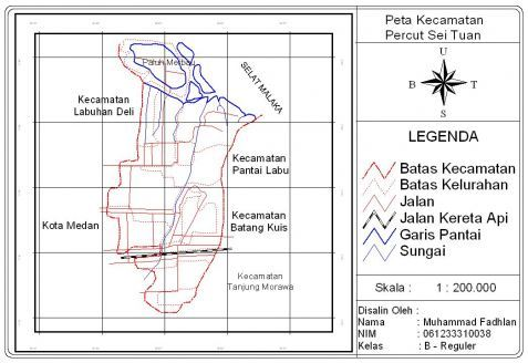 Gambaran Umum Kecamatan Percut Sei Tuan Profil Peta Sig Kota