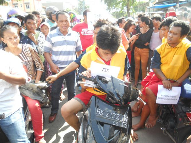Polsek Percut Sei Tuan Rekonstruksi Aksi Perampokan Sadis Hariansib Kota