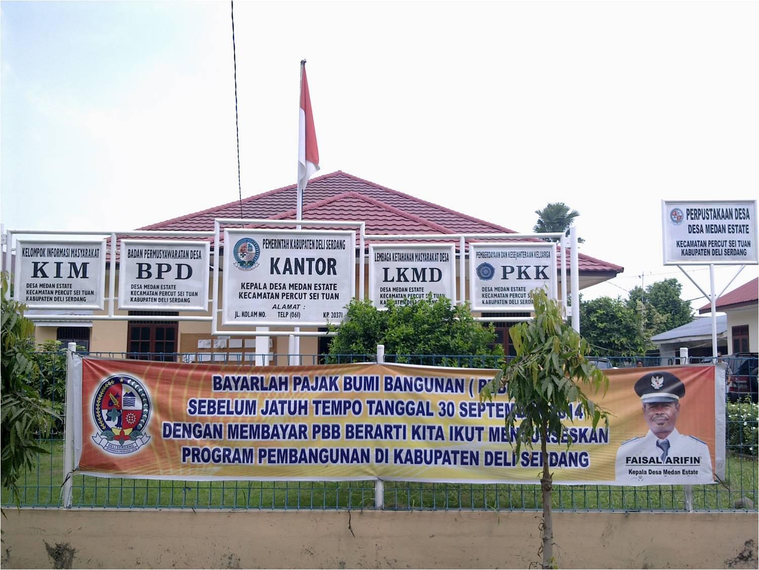 Sejarah Desa Medan Estate Kecamatan Percut Sei Tuan Didirikan Sejak