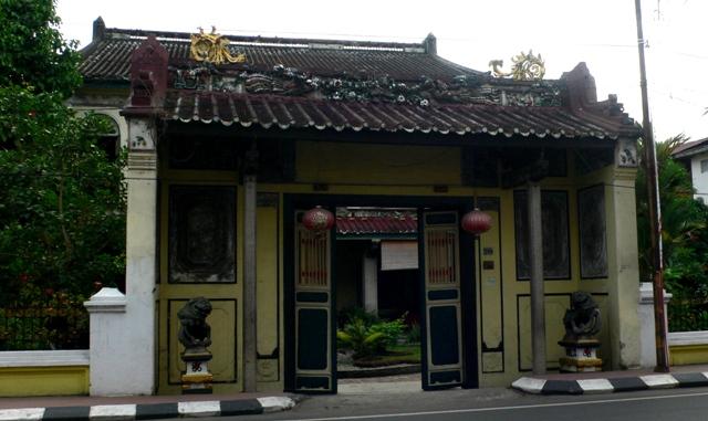 Berkunjung Tjong Fie Mansion Panduan Wisata Medan Depan Pintu Masuk